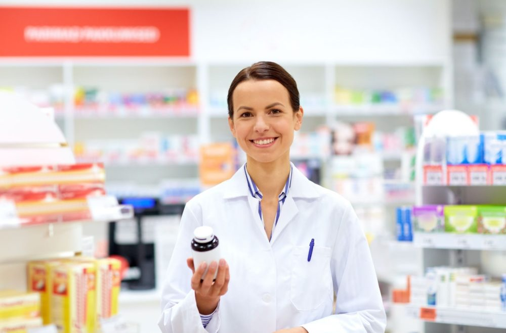 Pharmacist smiling at the camera